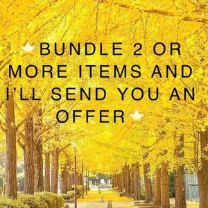 ⭐️BUNDLE 2 OR MORE ITEMS & I'LL SEND YOU AN OFFER
